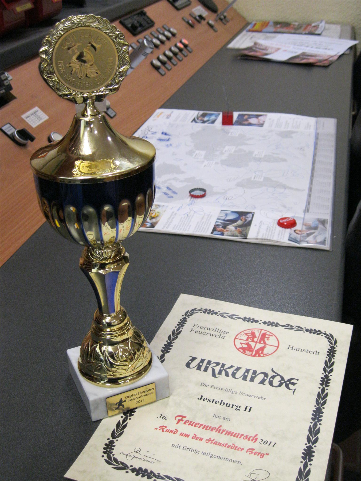 Pokal 4. Platz