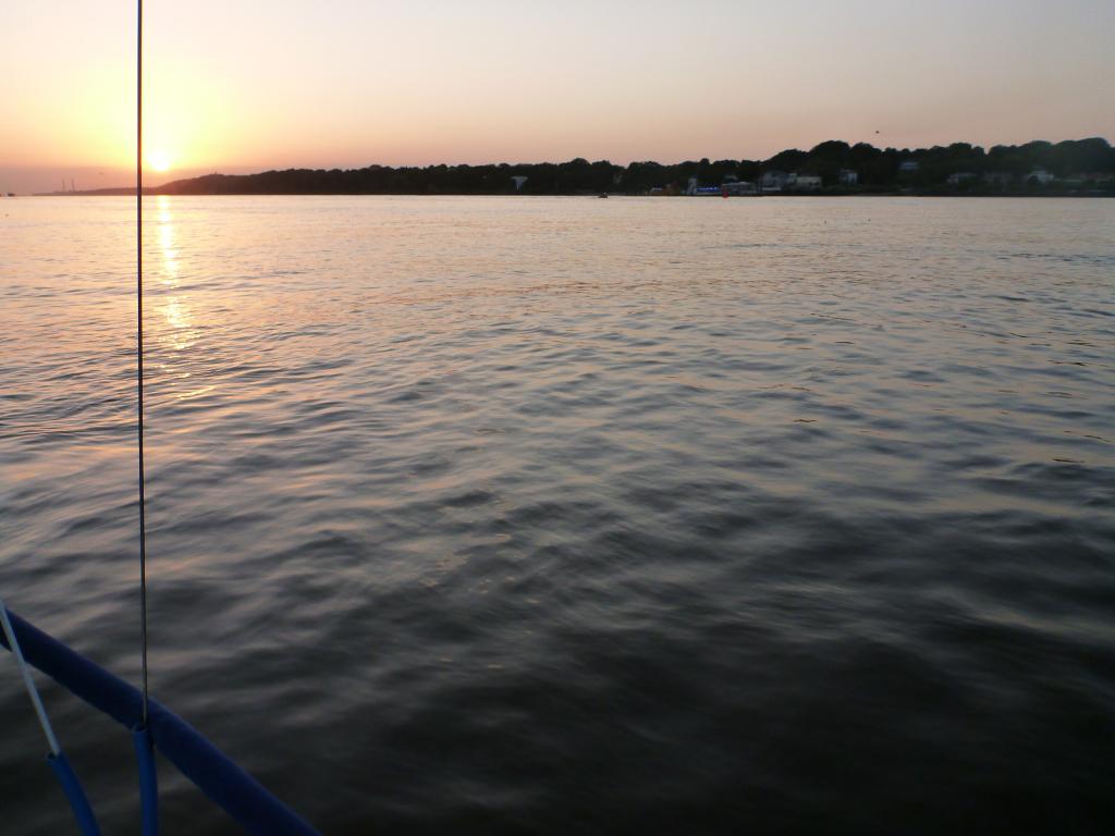 Elbe vor Finkenwerder